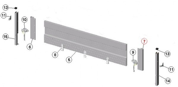 Endprofil 400 mm für klappbare Bordwände