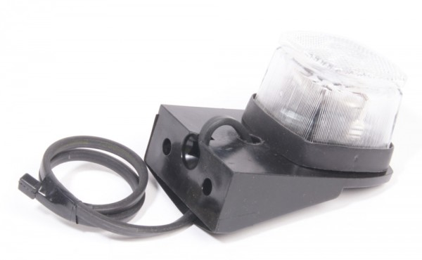 Positionsleuchte weiß mit Kabel und Konsole links