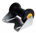 Kielrolle Kunststoff schwarz mit Beschlag