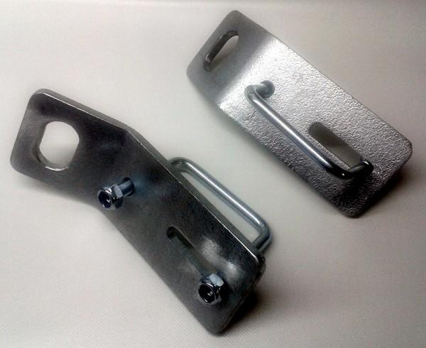 Paar Verzurrbeschläge für Profil 40 x 80 mm