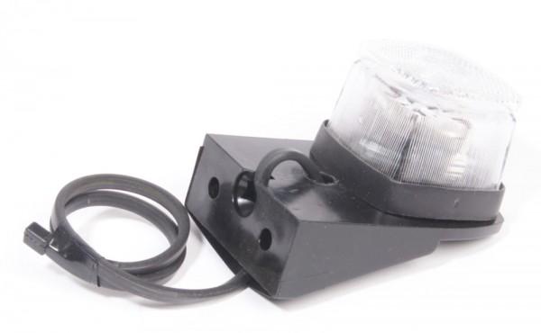 Positionsleuchte weiß mit Kabel und Konsole rechts