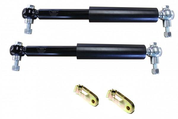 Paar Stoßdämpfer bis 1500 kg mit zweiteiligem Halter für eine Achse