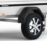 Aluminiumräder mit Bereifung 155/80 R13 4H für eine Achse