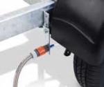Bremsenspülsystem für eine Achse fertig montiert