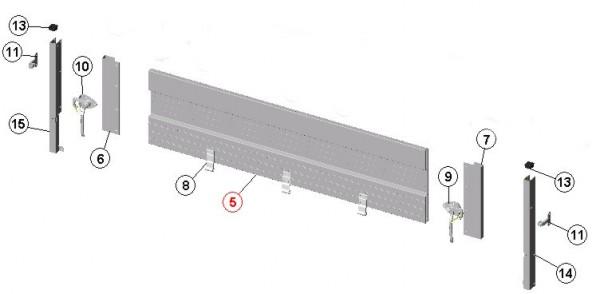 Bordwandklappe vorn oder hinten 128 cm